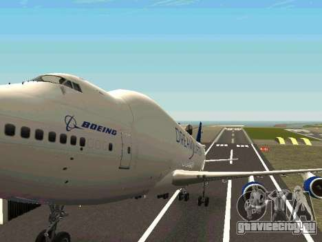 Boeing-747 Dream Lifter для GTA San Andreas вид сверху
