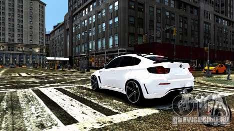 BMW X6 M Hamann 2013 Vossen для GTA 4 двигатель