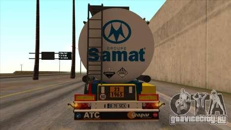 Цистерна SMAT для GTA San Andreas вид слева