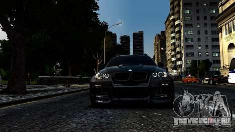 BMW X6 M Hamann 2013 Vossen для GTA 4 вид сзади слева