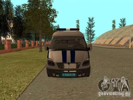 ГАЗ Соболь Полиция для GTA San Andreas вид слева