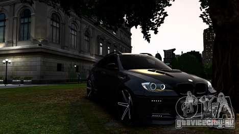 BMW X6 M Hamann 2013 Vossen для GTA 4 вид слева