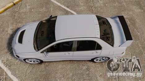 Mitsubishi Lancer Unmarked Police [ELS] для GTA 4 вид справа