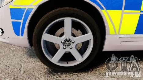 Volvo V70 Metropolitan Police [ELS] для GTA 4 вид сзади