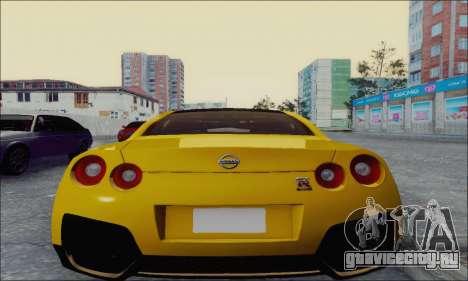 Nissan GT-R Spec V для GTA San Andreas вид сзади слева
