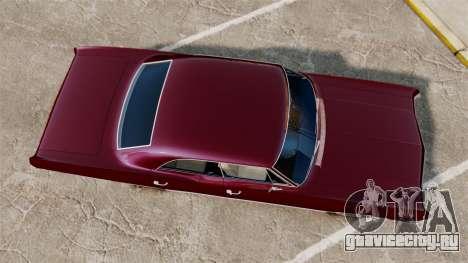 Chevrolet Impala 1967 для GTA 4 вид справа