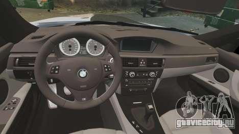 BMW M3 E92 для GTA 4 вид изнутри
