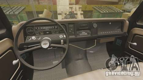 Chevrolet Tow truck rusty Rat rod для GTA 4 вид изнутри