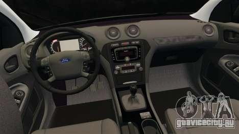 Ford Mondeo Metropolitan Police [ELS] для GTA 4 вид сверху