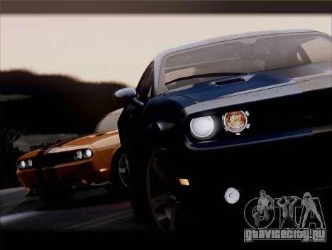 Dodge Challenger SRT8 2012 HEMI для GTA San Andreas салон