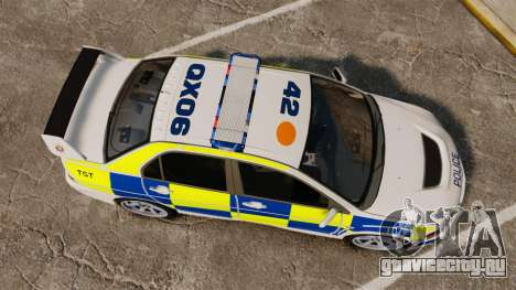 Mitsubishi Lancer Evolution IX Police [ELS] для GTA 4 вид справа