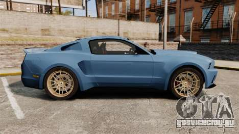Ford Mustang GT 2013 Widebody NFS Edition для GTA 4 вид слева