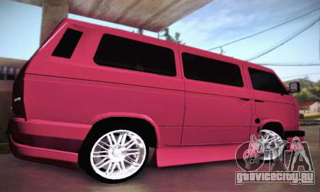 Volkswagen Transporter T2 Tuning для GTA San Andreas вид сбоку