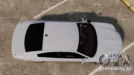 Dodge Charger RT 2012 Unmarked Police [ELS] для GTA 4 вид справа