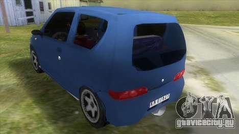 Fiat Seicento для GTA Vice City вид сзади слева