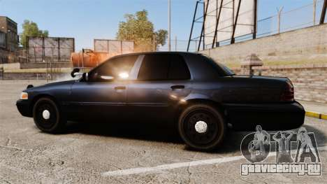 Ford Crown Victoria Stealth [ELS] для GTA 4 вид слева