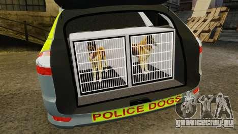 Ford Mondeo Metropolitan Police [ELS] для GTA 4 вид сбоку