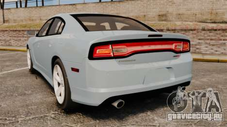 Dodge Charger 2012 для GTA 4 вид сзади слева