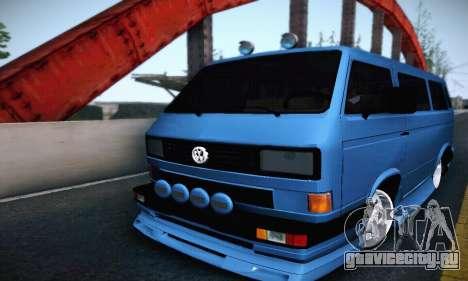 Volkswagen Transporter T2 Tuning для GTA San Andreas вид сзади