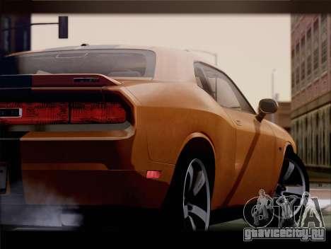 Dodge Challenger SRT8 2012 HEMI для GTA San Andreas вид сзади