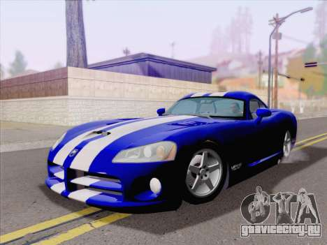 Dodge Viper SRT-10 Coupe для GTA San Andreas вид слева