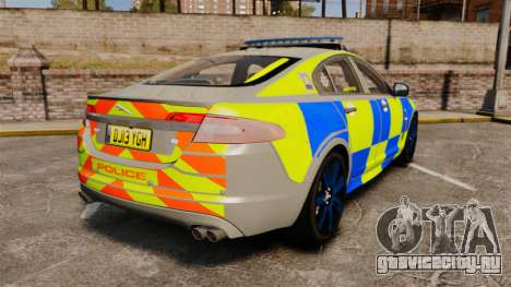 Jaguar XFR 2010 West Midlands Police [ELS] для GTA 4 вид сзади слева
