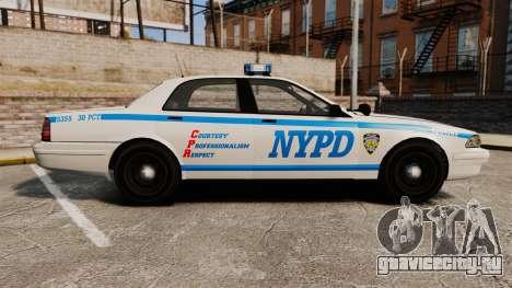 GTA V Vapid Police Cruiser NYPD для GTA 4 вид слева