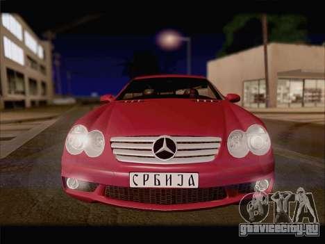 Mercedes SL500 v2 для GTA San Andreas вид сзади слева