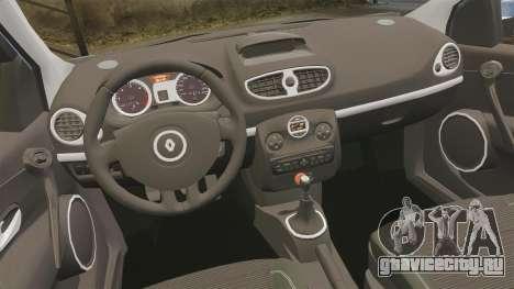 Renault Clio III Phase 2 для GTA 4 вид изнутри