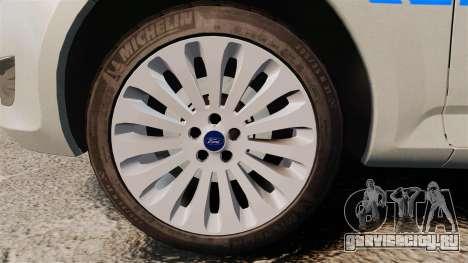 Ford Mondeo Metropolitan Police [ELS] для GTA 4 вид сзади