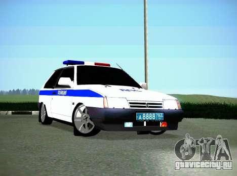 ВАЗ 2108 ДПС для GTA San Andreas вид слева