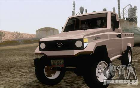 Toyota Fj70 2007 Pick Up для GTA San Andreas