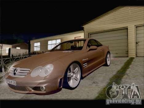Mercedes SL500 v2 для GTA San Andreas вид изнутри