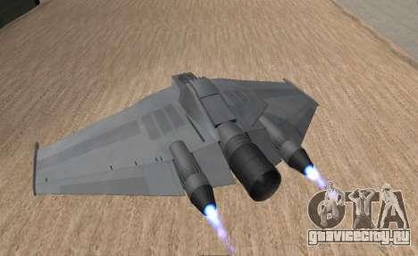 StarGate F-302 для GTA San Andreas вид слева