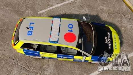 Audi S4 Avant Metropolitan Police [ELS] для GTA 4 вид справа