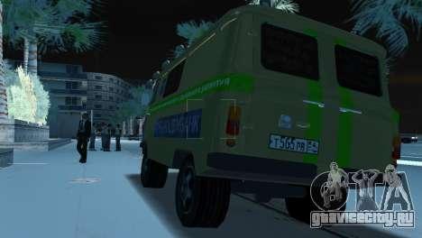 УАЗ 3741 Инкассация для GTA Vice City вид сзади слева