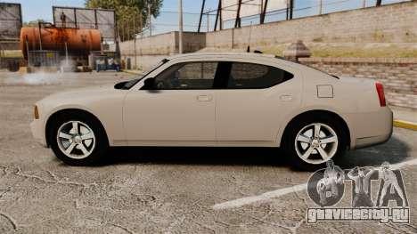 Dodge Charger Unmarked Police [ELS] для GTA 4 вид слева