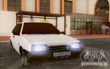 ВАЗ 2108 Такси для GTA San Andreas вид сзади