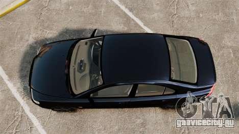 Volvo S60R Unmarked Police [ELS] для GTA 4 вид справа