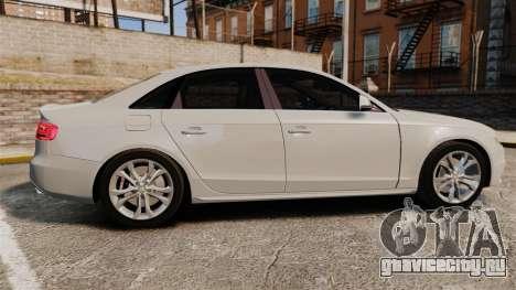 Audi S4 2010 для GTA 4 вид слева