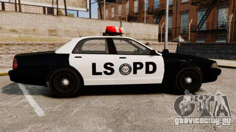 GTA V Vapid Police Cruiser LSPD для GTA 4 вид слева