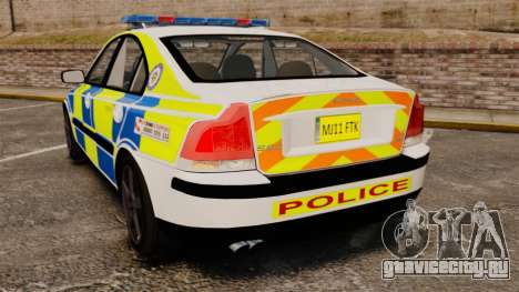 Volvo S60R Police [ELS] для GTA 4 вид сзади слева