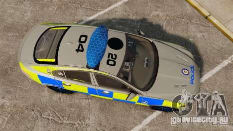 Jaguar XFR 2010 West Midlands Police [ELS] для GTA 4 вид справа