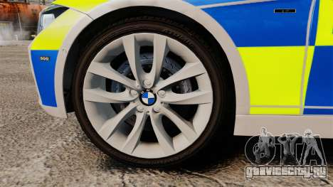 BMW F30 328i Metropolitan Police [ELS] для GTA 4 вид сзади