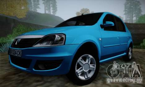 Dacia Logan для GTA San Andreas вид сверху