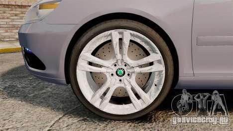Skoda Octavia RS Unmarked Police [ELS] для GTA 4 вид сзади