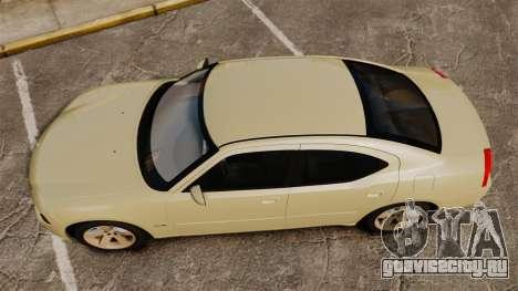 Dodge Charger RT Hemi 2007 для GTA 4 вид справа