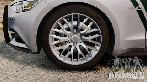 Ford Mustang GT 2015 Police для GTA 4 вид изнутри