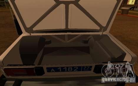 ВАЗ 2106 ДПС для GTA San Andreas вид изнутри