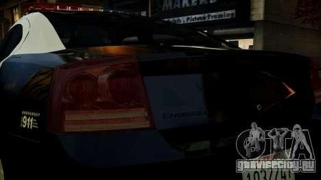 Dodge Charger LAPD 2008 для GTA 4 вид сверху